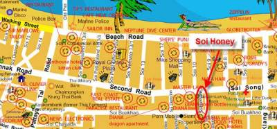 soi_honey_map in Pattaya