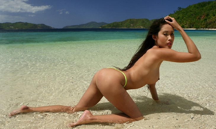 Thai girl nude on Thailand beach