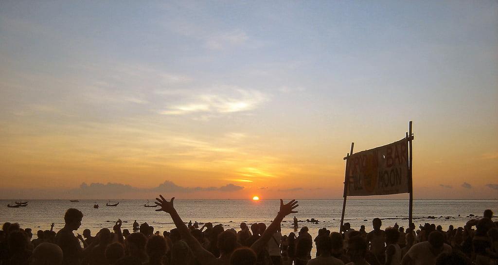 Thailand full moon beach party