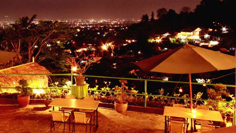 Bandung romantic dinner on the hills
