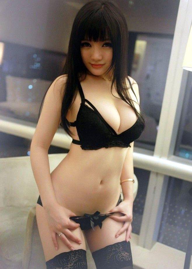 Cute asian girl in my bedroom