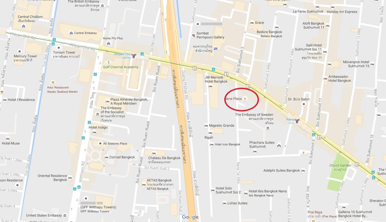 Map of best Ago-go in Nana Plaza in Bangkok