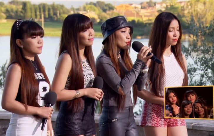 Filipinas love to sing song in English language