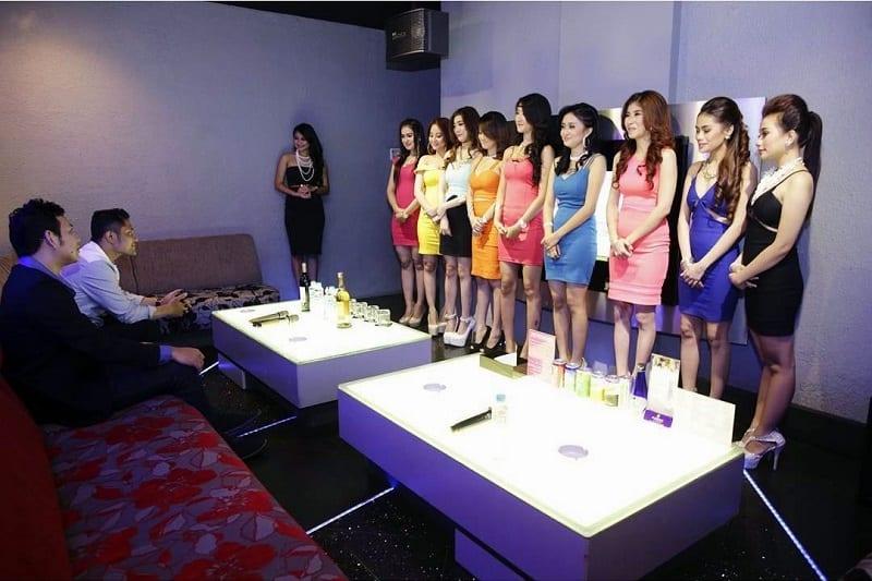 ktv girls in bandung in front customers
