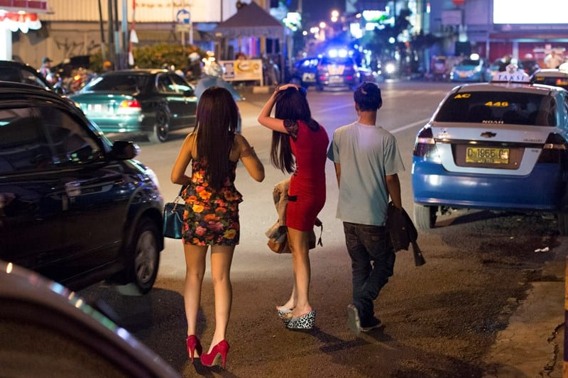 Bali street hookers at night