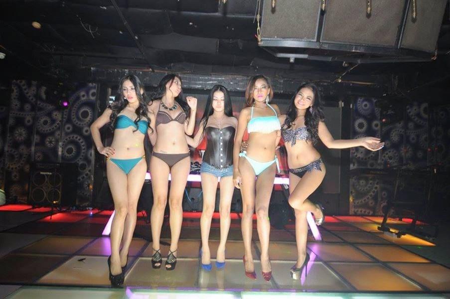 bikini girls dancing in strip club in Jakarta