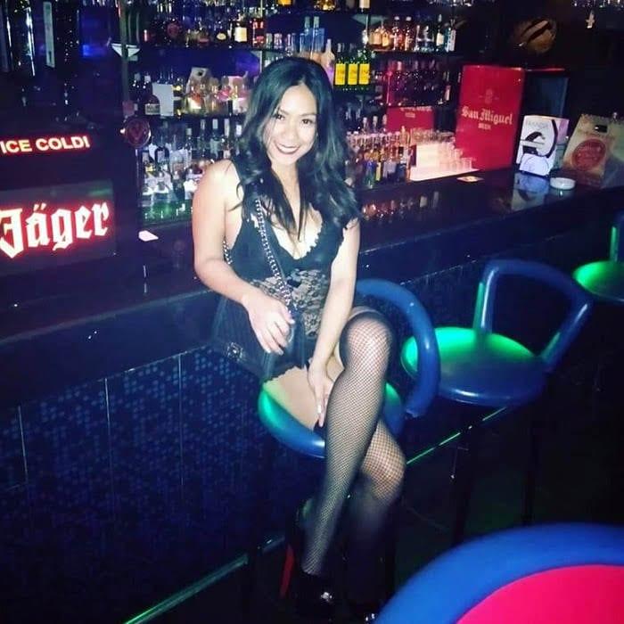 Sexy bar girl in Makati red light area - Burgos street