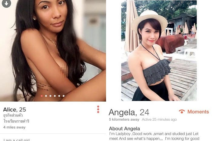 sexy girls on thailand dating apps
