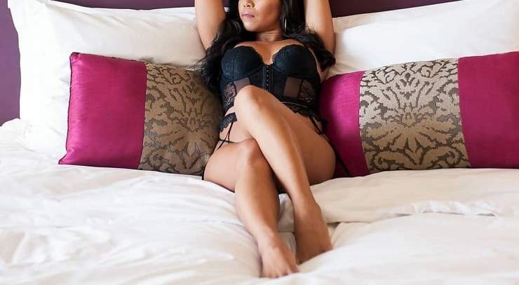 manila escort girl in bedroom